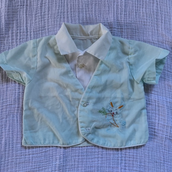 Vintage embroidered baby shirt